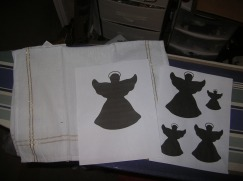 Different angel shape cutout sizes