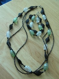 Completed necklace and bracelet