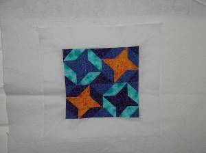 Finished front of the friendship mini quilt