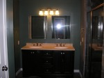 Double vanity in the bathroom