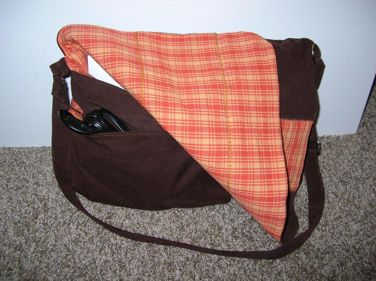 Messenger bag Inside and out