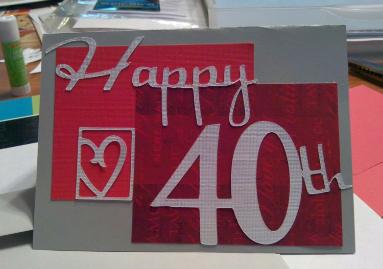 40th Anniversary Card