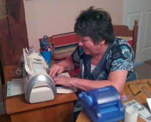 Mom working the Cricut