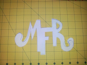 Paper design of the monogram