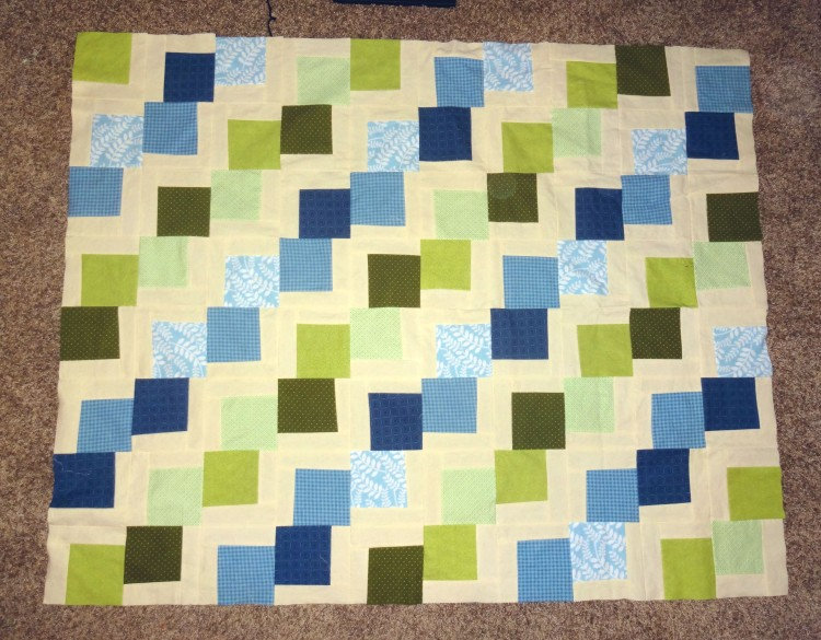 Movin' On Up quilt top