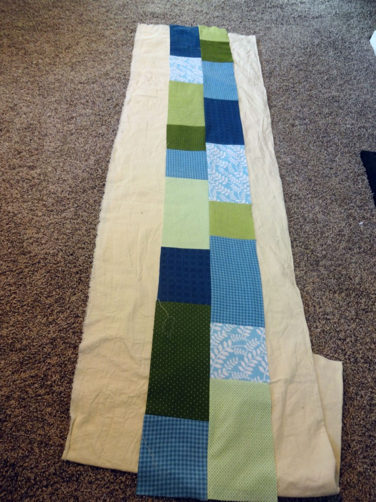 Movin' On Up quilt back