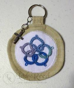 Key chain with tatted embellishment